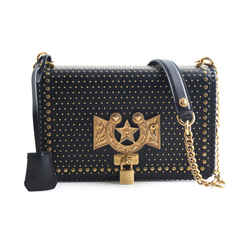 Versace Horseshoe Gold Studded Shoulder Bag