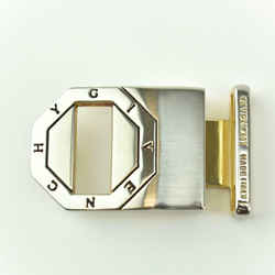 "GIVENCHY: Silver Metal Logo Belt Buckle (only) - fits strap up to 1 1/8"" (aj)"