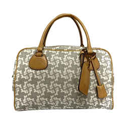 Gray Celine Carriage Boston Bag