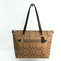 Coach Signature Luxury Gallery F79609 Women's PVC,Leather Tote Bag Beig BF516406