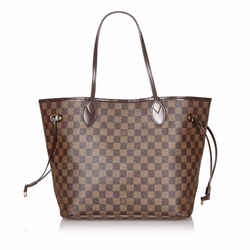 Brown Louis Vuitton Damier Ebene Neverfull MM Bag