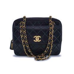 Chanel Vintage Black Lambskin Classic Flap Camera Bag 24k Ghw