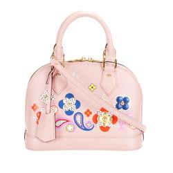 Vintage Authentic Louis Vuitton Pink Epi Flower Alma France