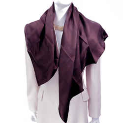 Bolduc Hermes Silk Scarf Umber Brown 90cm Twill Nib