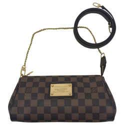 Louis Vuitton Eva Damier Ebene Canvas Cross Body Bag