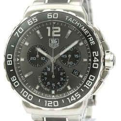 Polished TAG HEUER Formula 1 Chronograph Steel Quartz Watch CAU1115 BF532704