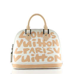 Alma Handbag Limited Edition Graffiti Leather MM