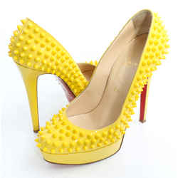 Christian Louboutin Patent Leather Bianca Spikes 140 Pumps