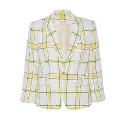 Veronica Beard Yellow / Green Schoolboy Blazer