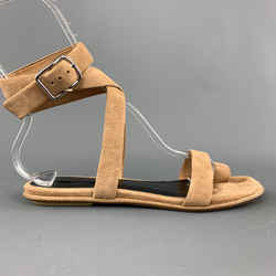 Alexander Wang Size 6 Tan Suede Ankle Strap Naura Sandals