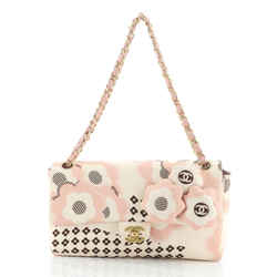Camellia Flap Bag Printed Satin Medium