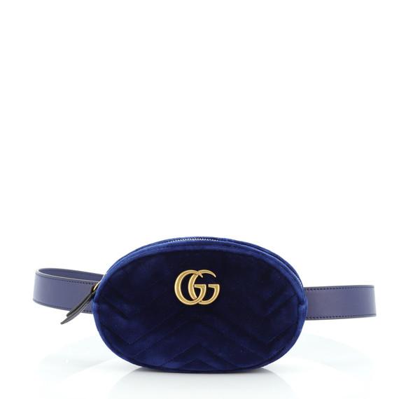 GG Marmont Belt Bag Matelasse Velvet