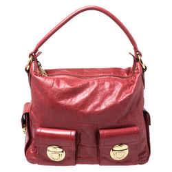 Marc Jacobs Red Leather Multi Pocket Shoulder Bag