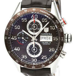 Polished TAG HEUER Carrera Chronograph Day Date Automatic Watch CV2A12 BF529367