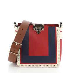 Rockstud Flip Lock Messenger Bag Leather Mini