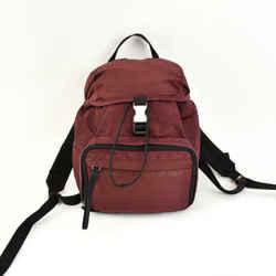 Prada: Burgundy, Vela Nylon, & Logo Backpack/bag (ru)