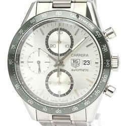 Polished TAG HEUER Carrera Chronograph Steel Automatic Watch CV2011 BF531333