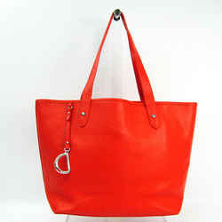 Ralph Lauren Unisex Leather Tote Bag Orange Red Bf504135