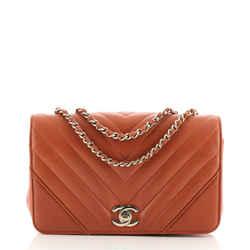 Statement Flap Bag Chevron Calfskin Mini