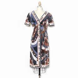 Emilio Pucci Kaleidoscope Print Cotton Velvet Dress