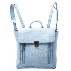 3.1 Phillip Lim Blue Periwinkle Cream Leather Pashli  Backpack