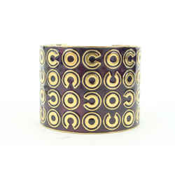 Chanel 01A Gold Coco All Over Extra Wide Cuff Bracelet 468cas63