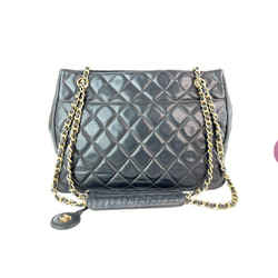 Chanel Black Quilted Lambskin CC Gold Chain Tote 4CC916