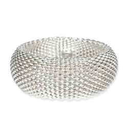 Tiffany & Co. Somerset Mesh Bangle in  Sterling Silver
