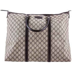 Gucci Gg Plus Plated Tote Bag Brown