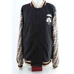 Fendi Bomber Zip-Up Jacket