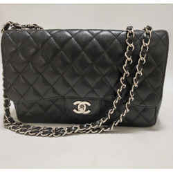 Chanel Black Caviar Jumbo Flap Classic Shoulder 2005