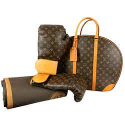 Louis Vuitton x Karl Lagerfeld Ultra Rare Limited Monogram Boxing Glove Set 860629