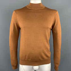 Sandro Size L Tan Wool Turtleneck Pullover
