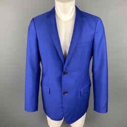 Jil Sander Size 42 Royal Blue Wool / Mohair Notch Lapel Sport Coat