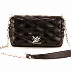 Louis Vuitton Go-14 Mm Malletage Clutch Black Lambskin Leather Cross Body Bag