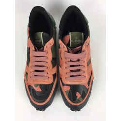 Valentino Camouflage Garavani Rockrunner Lace Sneaker Athletic Shoes