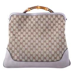 Gucci Monogram Diana Bamboo Shoulder Bag