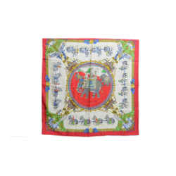 Hermes Authentic Silk Scarf Caparacons De La France Et De L'inde Red Ledoux Vintage 90cm Carre