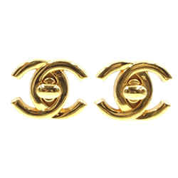 Chanel Cc Turnlock Gold Hardware Clip On Earrings