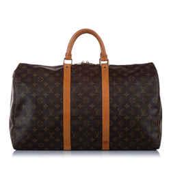 Brown Louis Vuitton Monogram Keepall 50 Bag
