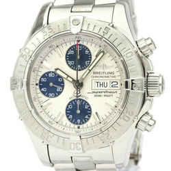 Polished BREITLING Chrono Super Ocean Steel Automatic Mens Watch A13340 BF535039