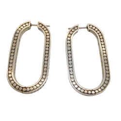 John Hardy Silver Dot Earrings
