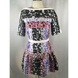 Peter Pilotto Sz 6 Silk Blend Abstract Fit Flare Dress Nwot - 1919-34-52219