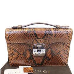 Gucci Lady Lock Python Small Top Handle Satchel Bag 331823