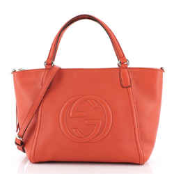 Soho Convertible Top Handle Bag Leather Small