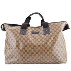Gucci Crystal Guccissima Tote Bag Brown/beige One Size Authenticity Guaranteed