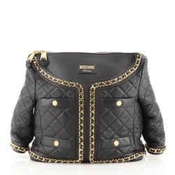 Jacket Shoulder Bag Quilted Leather
