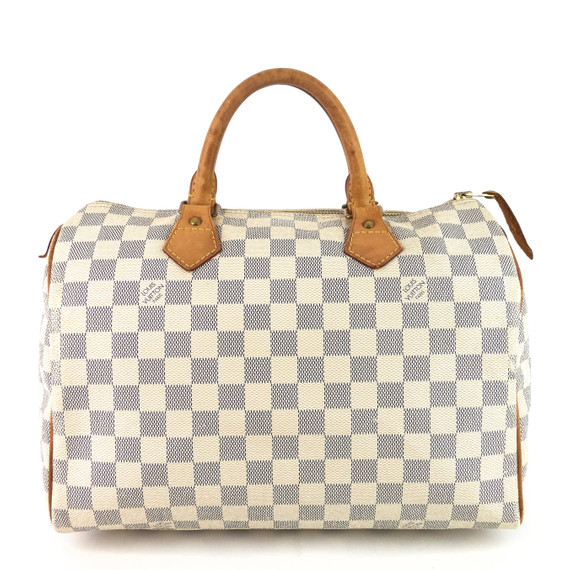 Speedy 30 Damier Azur Canvas Bag