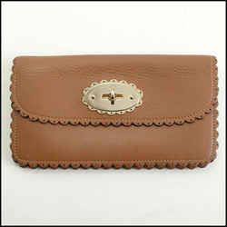 Rdc11257 Authentic Mulberry Brown Leather Cookie Bayswater Wallet