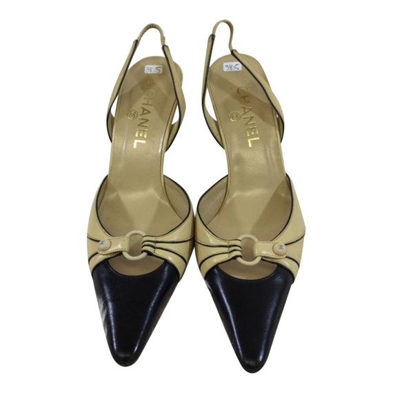 Chanel Slingback Leather Pumps